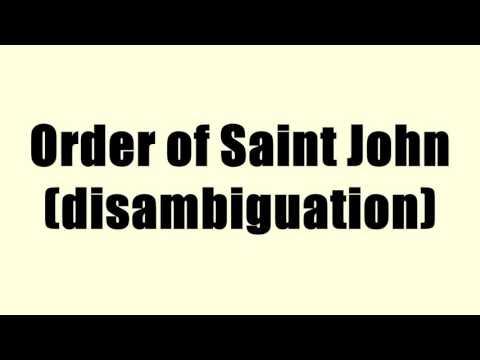 Order of Saint John (disambiguation)