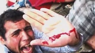 Repeat youtube video Live Killing in Egypt by Military Coup 2013- مجزرة رابعة رصاص حي