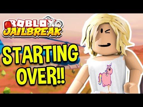 ROBLOX JAILBREAK STARTING OVER! *BACON HAIR!* | Roblox Jailbreak February Update LIVE 🔴
