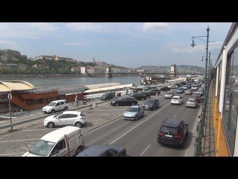 Budapest Tram Ride Alongside the Danube River