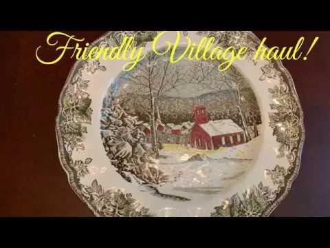 Goodwill & Johnson Bros. Friendly Village China Haul! Thrifting!
