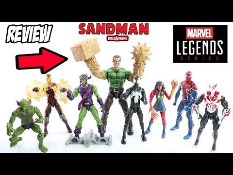 Sandman | Homem-Areia BAF Marvel Legends Spider-Man Montagem e Review brinquedo boneco em portugues