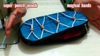 Designer Pencil Pouch or Designer Student Pouch/Diy/how to make at home/