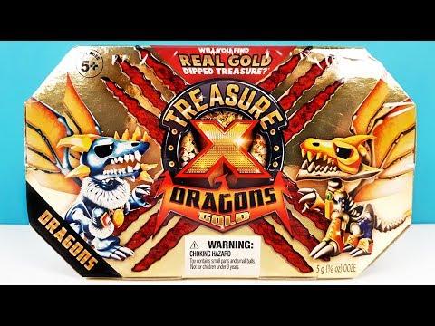 TREASURE X DRAGON GOLD Ищем ЗОЛОТО ДРАКОНОВ сюрприз СУНДУК СОКРОВИЩ Surprise Unboxing