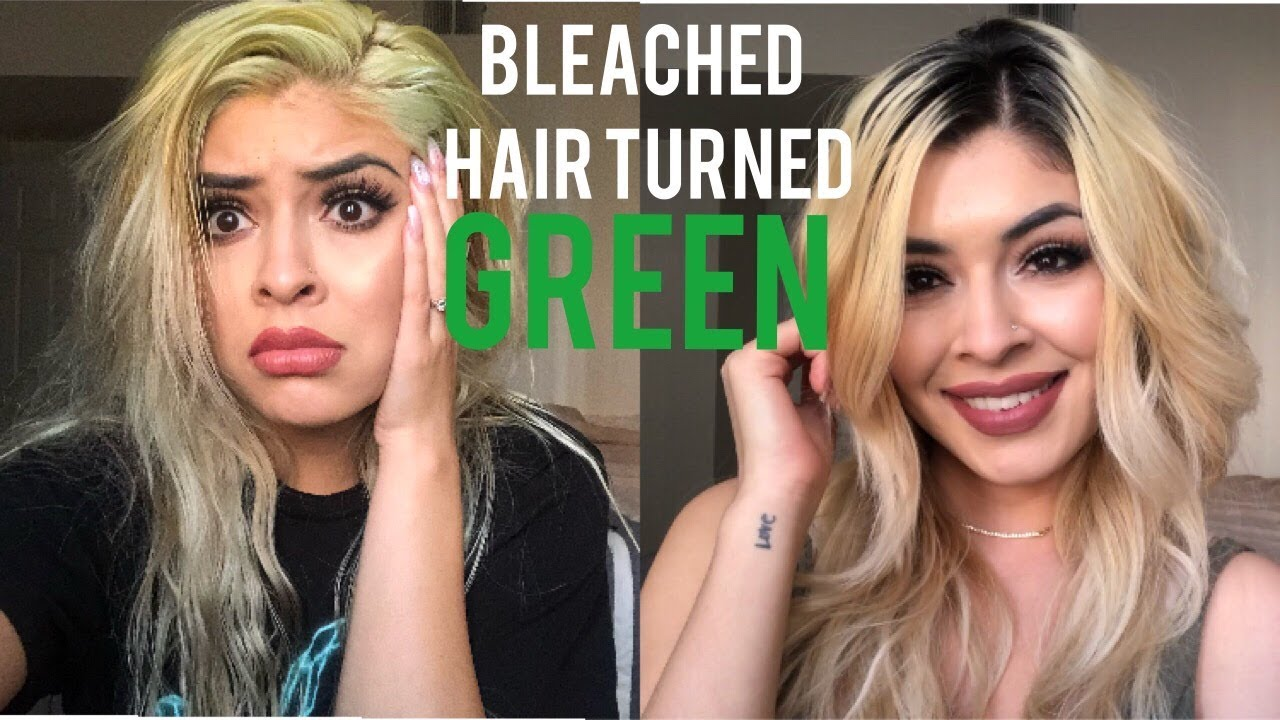 Bleached Hair Turned Green How I Fixed Itnot A Tutorial Youtube