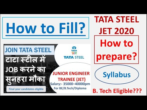 Tata Steel Recruitment for JET 2020 | How to Apply? | How to prepare | Syllabus