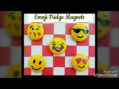 Emoji Fridge Magnets DIY