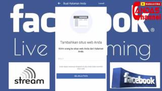 cara live streaming facebook di hp android