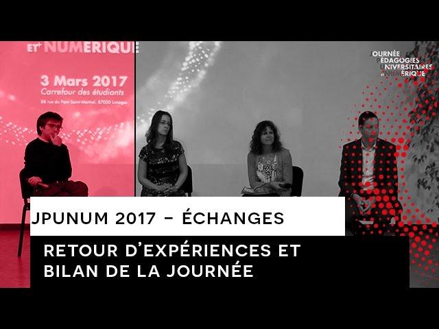JPUNUM 2017 - Echanges