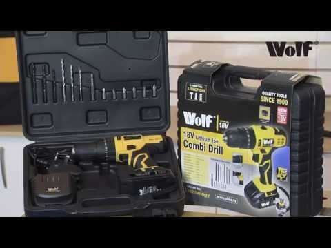 Wolf 18v Lithium Ion Combi Drill Kit