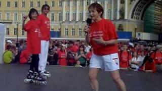 Тамара Москвина открывает пробег