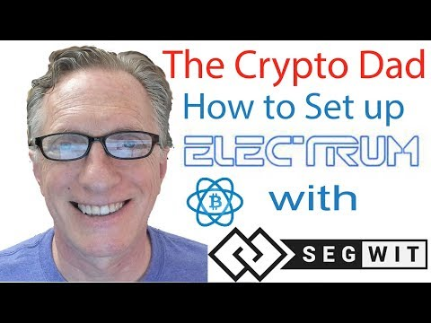 Creating A Segwit (segregated-witness) Bitcoin Wallet Using The Electrum Bitcoin Wallet Version 3