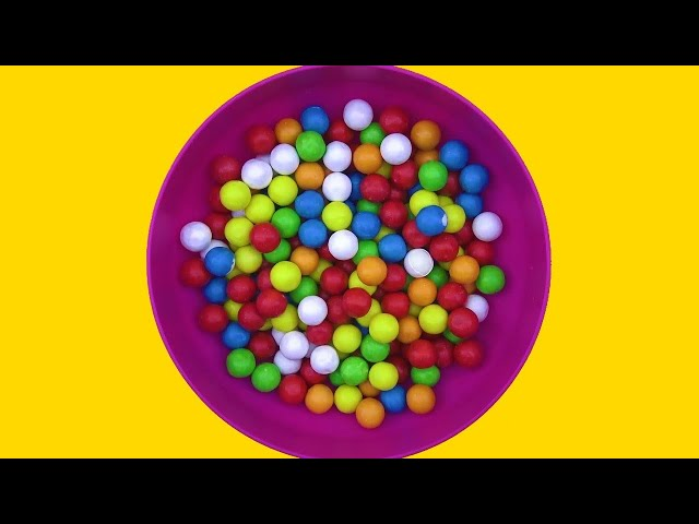 Learn Colors with Colored Ball Gums for Kids! Teaching Colors for Children! Fun Learning Contest
