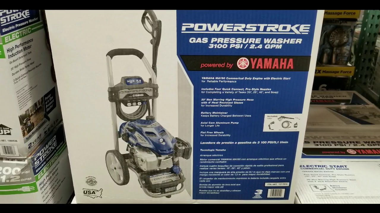 Costco Powerstroke 3 100 Psi Gas Pressure Washer With Electric Start 299 Youtube