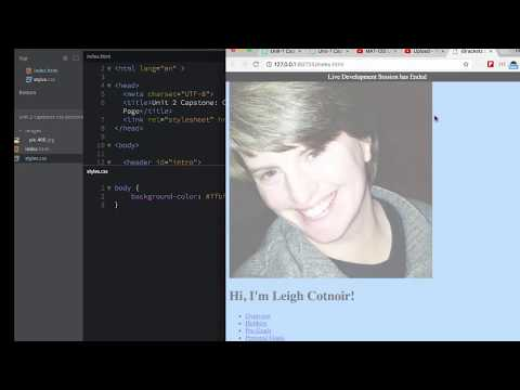Unit 2 Capstone: Part 3 - Making New Files In Brackets And Linking Them Together