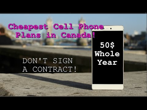 CHEAPEST CELL PHONE PLANS IN CANADA