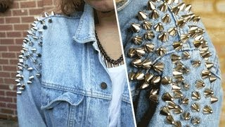 D.I.Y | Shoulder studded denim jacket