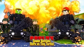ROBLOX - TOWER BATTLES - ROPO vs TINY TURTLE!
