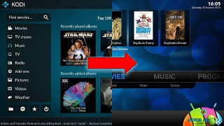 How to convert KODI 17 into KODI 16 with Confluence Skin
