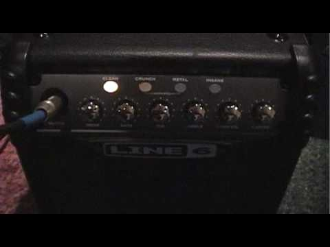 Line 6 Micro Spider Solid State Amp Review/Demo
