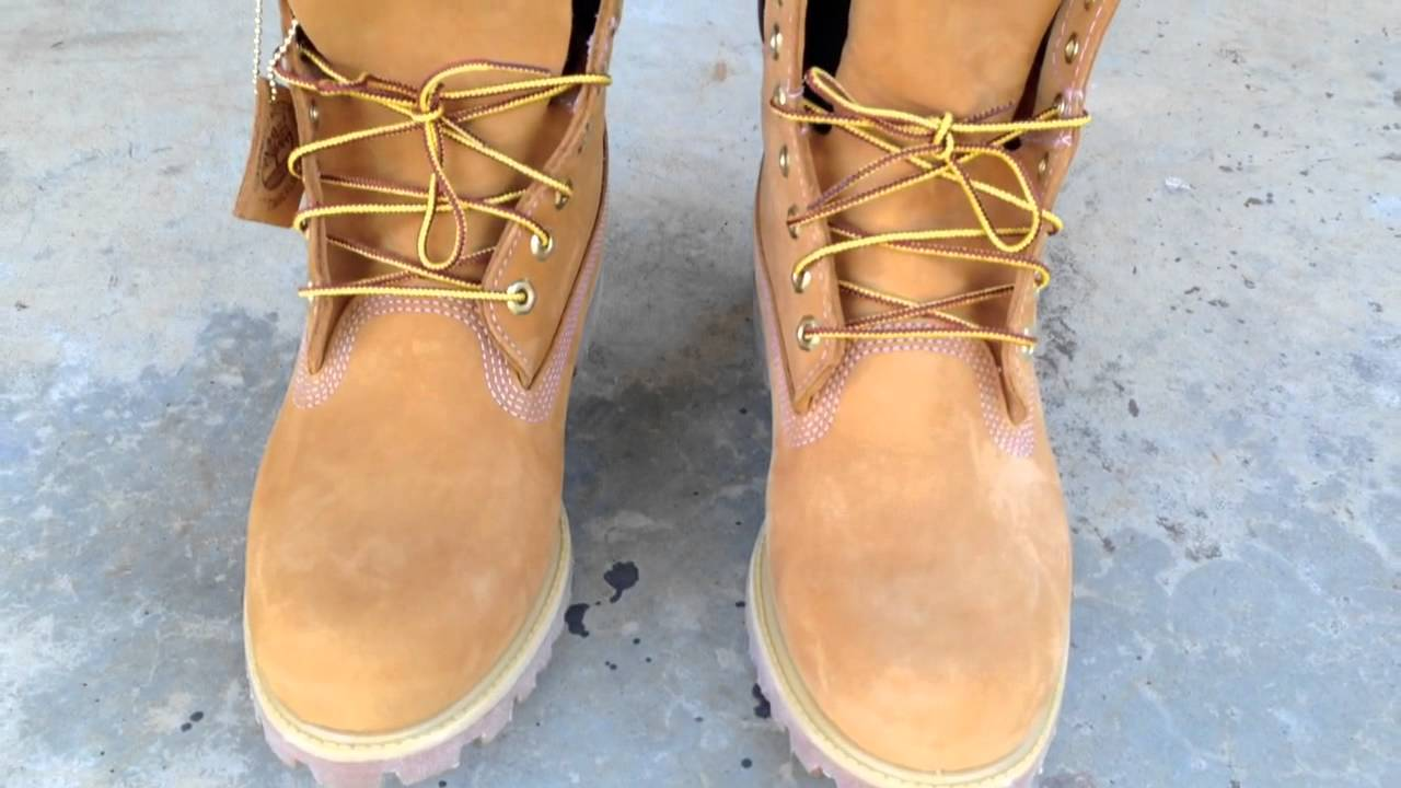 Timberland 6 Quot Wheat Timbs On Feet Youtube