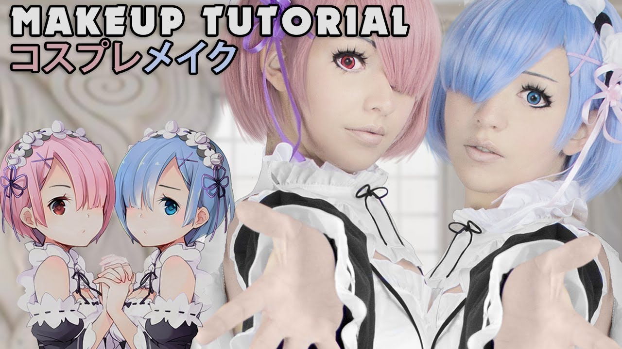 Rem / Ram Re:ZERO Cosplay Makeup Tutorial ゼロから始める異世界生活 ...