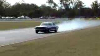 1967 twin turbo Mustang,1000 HP straight line burnoff