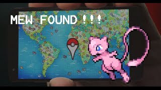 Mew found!!! - Google Maps Pokémon Challenge Free HD Video