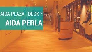 AIDAperla:  Plaza (Deck 7) Magnum Eis,  Shops, Fitnessstudio, Parfümerie & Friseur