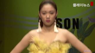 李圣经 이성경 Lee Sung Kyung Seoul fashion week runway cut (1)