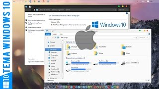 "Tema estilo MAC OS! ""Yosemite"" para windows 10 