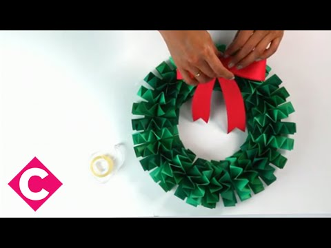 How To Make An Accordion Folded Paper Wreath Youtube