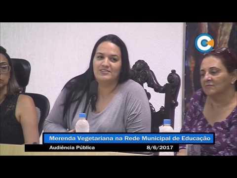 Audiência discute opção vegetariana na merenda escolar