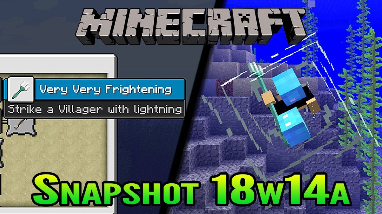 Minecraft 9.93 Snapshot 98w94a  Slow Falling Potion and Trident Riptide!