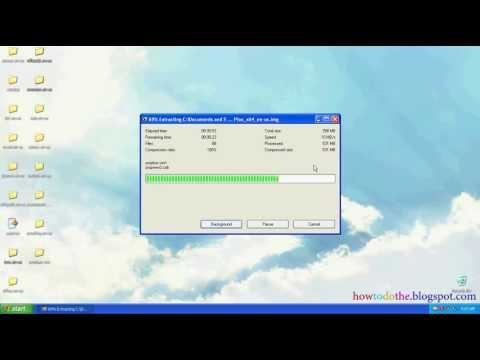 How to open  img file - YouTube
