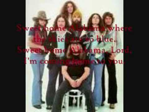 Lynyrd skynyrd sweet home alabama lyrics youtube for Who sang the song sweet home alabama