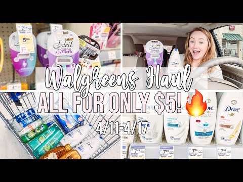WALGREENS COUPON HAUL FOR ONLY $5! 🔥 (4/11-4/17) FREE RAZORS AND CHEAP DOVE!!