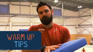 Warm up tips with physio Jason Laird