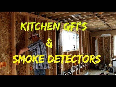DIY Home Build Wiring Smoke Detectors And Kitchen GFI\u0027s - YouTube