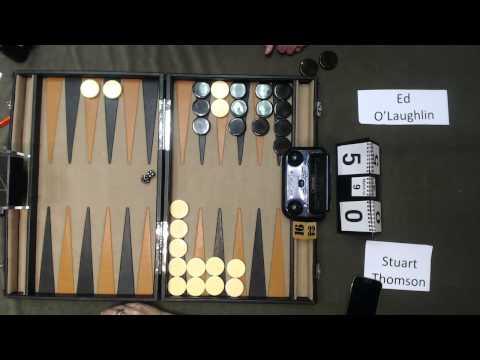 Carolina Backgammon R2 Ed O'Laughlin v Stuart Thomson