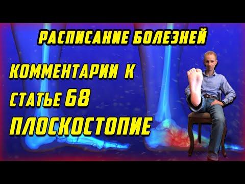 Комментарии к статье 68 ПЛОСКОСТОПИЕ [РАСПИСАНИЕ БОЛЕЗНЕЙ]