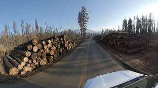 Driving Along Huntington Lake Road 360 (Revised)