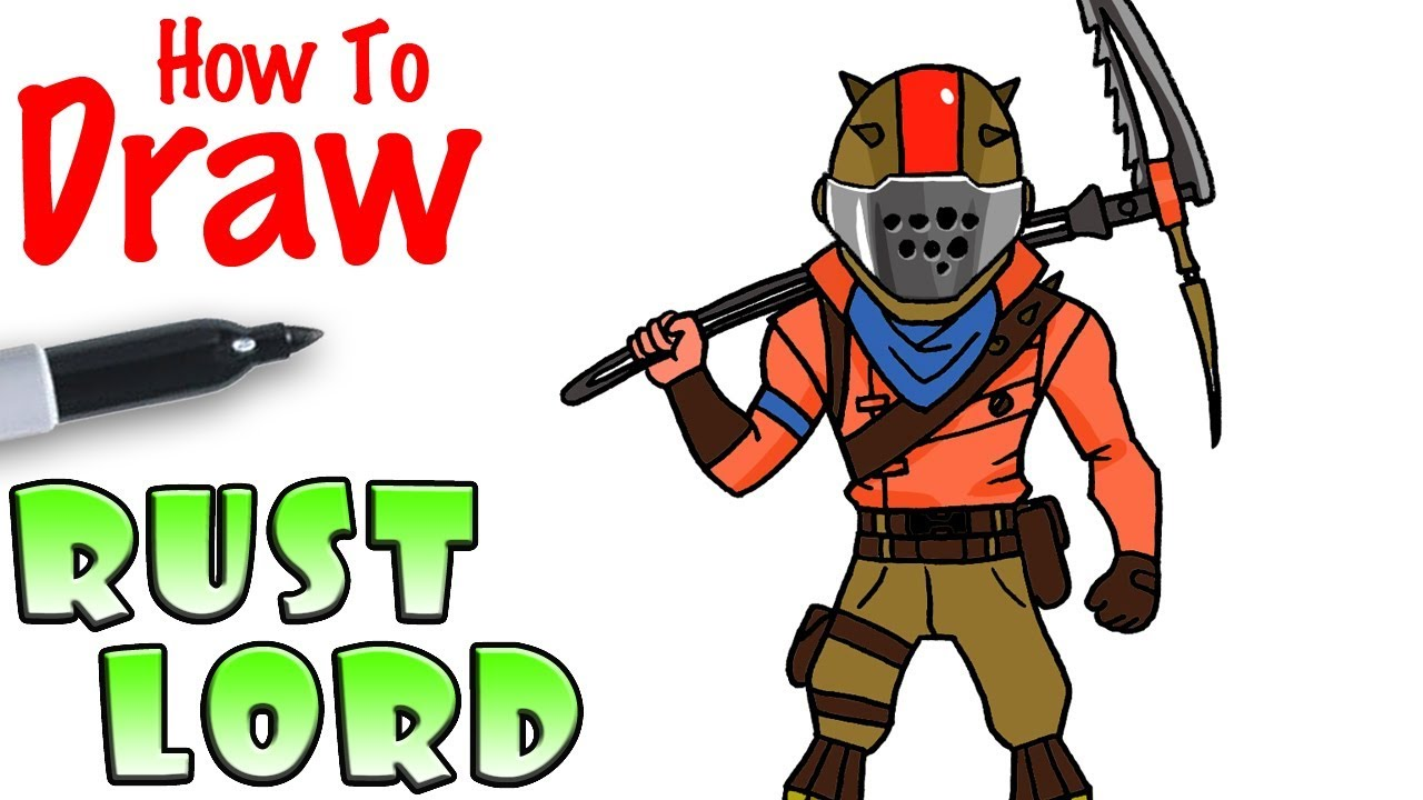 How To Draw Rust Lord Fortnite Youtube