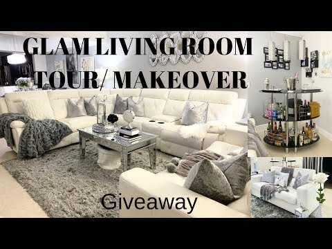 Glam Living Room Tour Home Decor Ideas I GIVEAWAY Closed