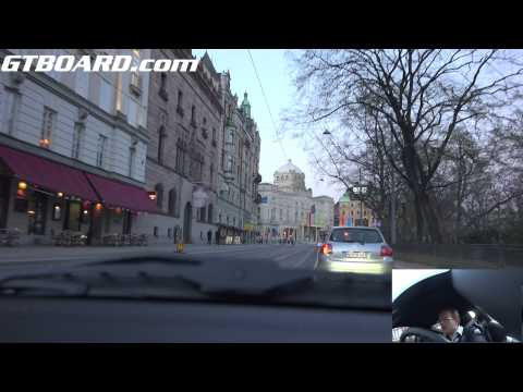 Ultra HD 4k shorter tour if Stockholm -capital of Sweden- in a Porsche 911 Turbo PDK