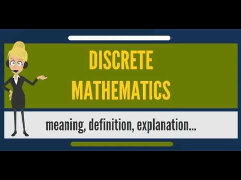 What is DISCRETE MATHEMATICS? What does DISCRETE MATHEMATICS mean?