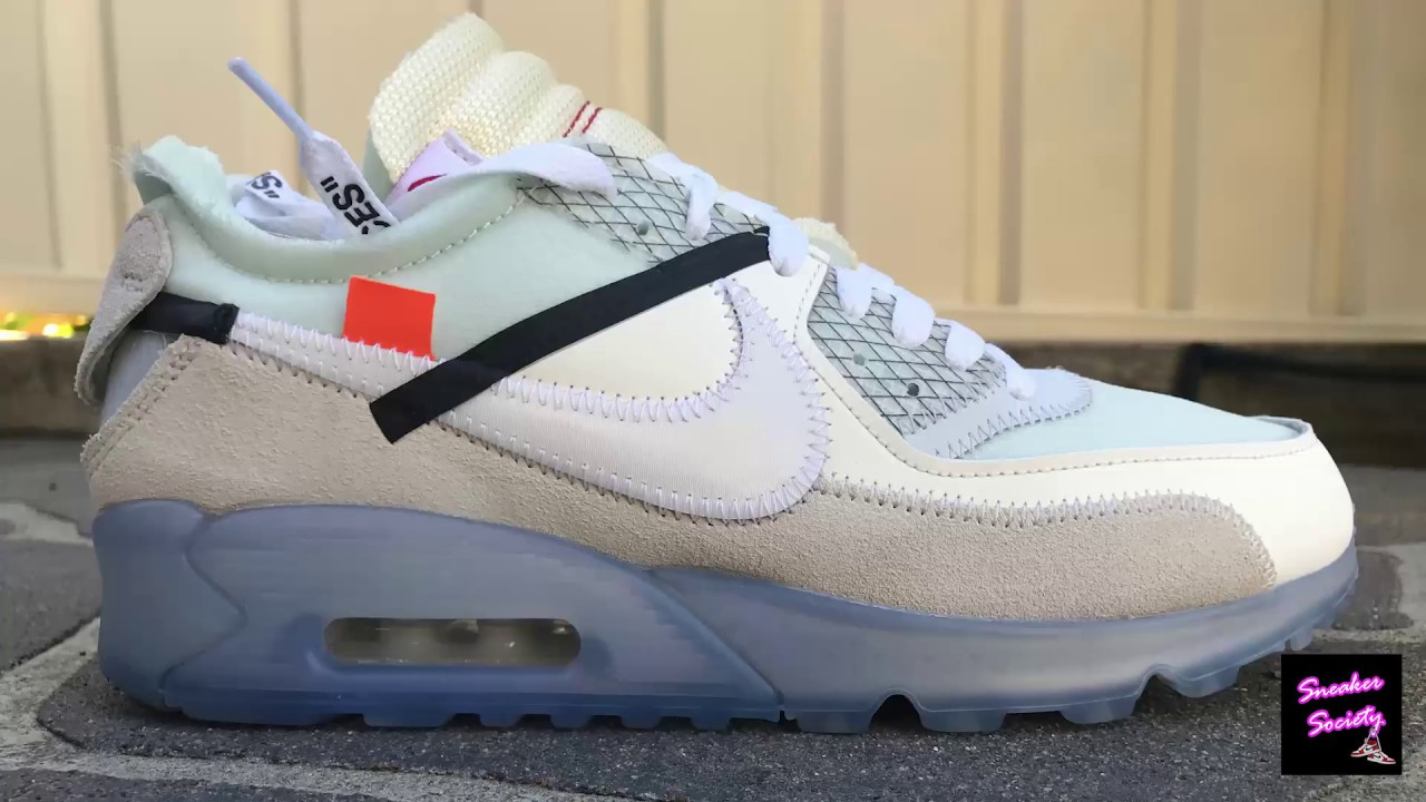 89829dc3c6 Nike Off-white Air Max 90 Sneaker Review (On Foot) - YouTube