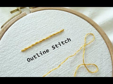 프랑스 자수 스티치 | 아웃라인 스티치_Outline Stitch
