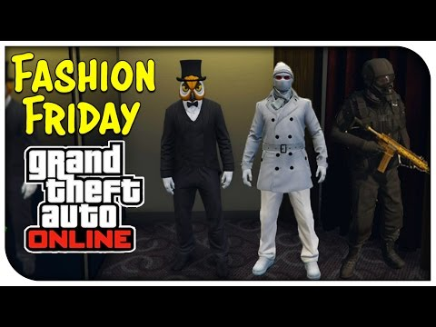 GTA 5 Online - FASHION FRIDAY! (Airborne Special Operative, Man of Snow & Hoodini ) [GTA V]
