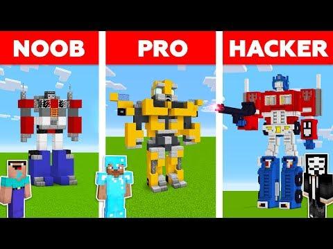 Minecraft Battle: NOOB Vs PRO Vs HACKER: TRANSFORMERS In MINECRAFT / Animation